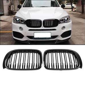 Image 1 - Samger un par para BMW X3 X4 F25 F26 2014 17 Parrilla de riñon frontal mate brillante Negro M Color reemplazo de parrillas de carreras