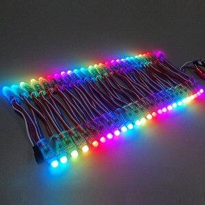 Image 5 - 50pcs 12mm WS2811 Full Color LED Pixel Light Module DC 5V IP68 waterproof RGB color 2811 1903 IC Digital LED christmas Light