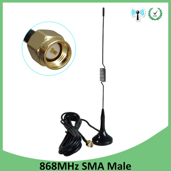 GSM Antenna 868MHz 915mhz antenna 4.5dbi SMA male connector 868 mhz 915 mhz antena sucker aerial with 3M Extension cable antenne 1pc gsm 3g 4g small sucker antenna omni car aerial with 1 5m cable sma male connector