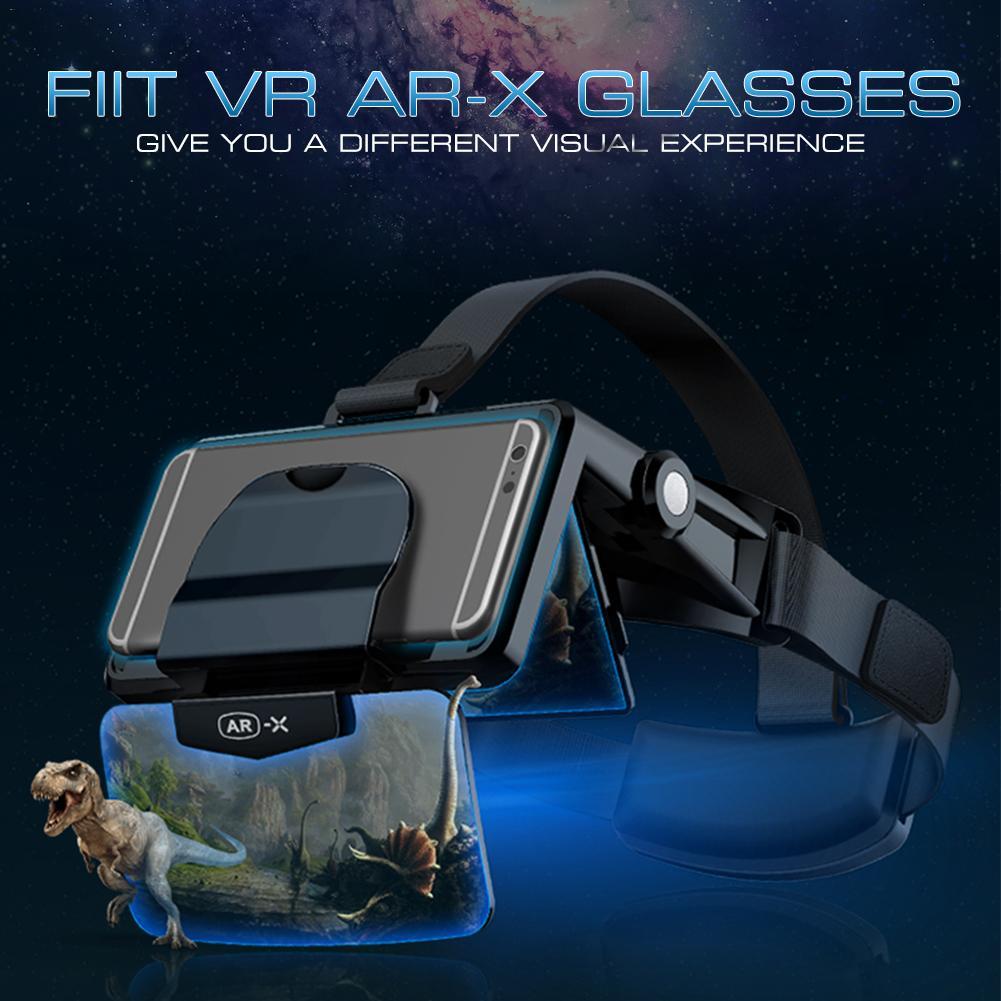 Очки AR 3D VR, наушники виртуальной реальности 3D, картонные очки VR, гарнитуры для 4,7-6,3 дюйма, для шлема FIIT VR, для шлема, для виртуальной реальност...