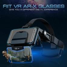 AR Glasses 3D VR Headphones Virtual Reality 3D Glasses Cardboard VR Headsets for 4.7-6.3 inch Phone For FIIT VR AR-X Helmet(China)