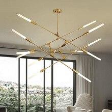 Modern Golden LED chandelier lighting Nordic simplicity Iron fixtures for living room restaurant bedroom loft hanging lamp цена в Москве и Питере