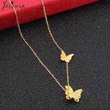 Jisensp collar de mariposa encantador de moda gargantilla collar de capas de diamantes de imitación Vintage para collar de cristal de mujer regalo de amor bijoux