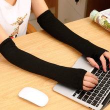 Лидер продаж женские вязаные длинные перчатки для женщин теплые