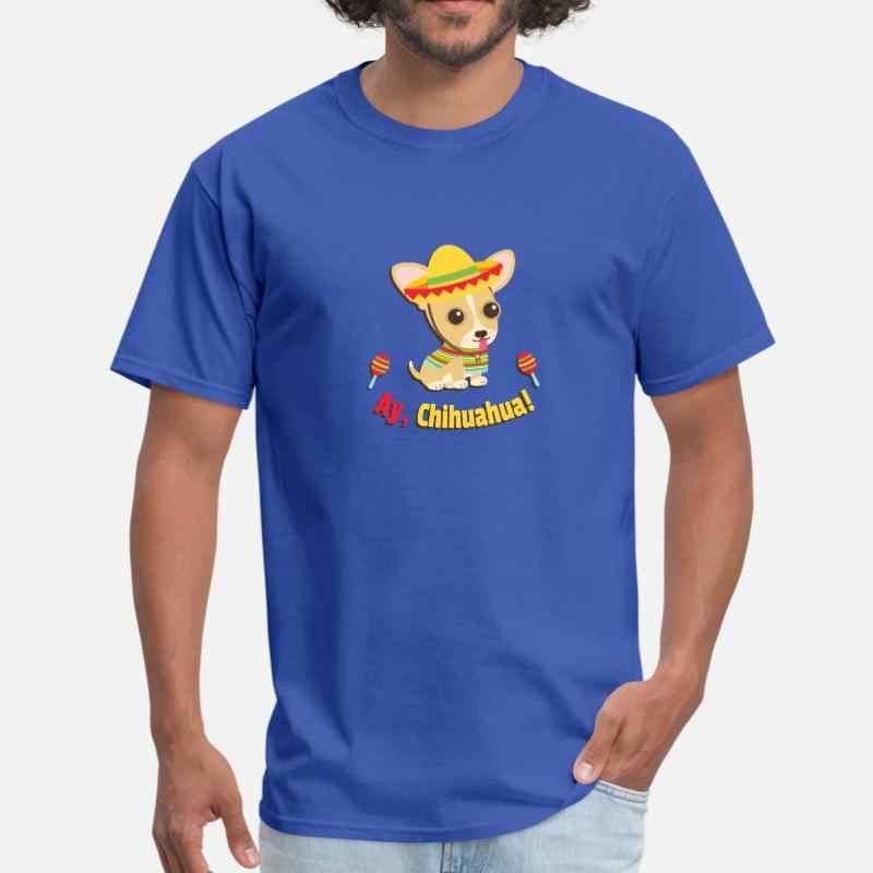 Impression Ay Chihuahua mignon Fiesta t-shirt pour hommes fille garçons noir humoristique hommes t-shirt surdimensionné S-5xl hommes t-shirt
