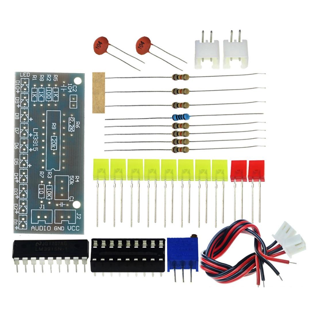Electronic DIY Kit LM3915 Audio Level Indicator Production Suite DC 9V-12V Audio Indicator Suite