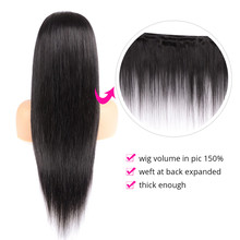 Brazilian 4*4 Lace Closure Wig Straight Human Hair Wigs For Black Women Non Remy Natural Color Lace Wig with Baby Hair
