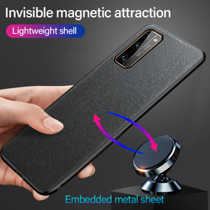 Ultra-thin Cloth Texture Magnetic Holder Phone Case For Huawei Honor 30 20 9 P40 P30 P20 Lite Pro Luxuy Silicone Fabric Cover