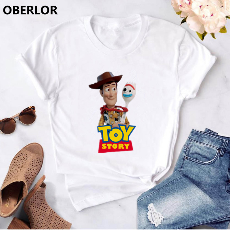 Forky New Toy Story 4 The Walking Toys 3d T Shirt Sherif Woody Cartoon Buzz Lightyear 90s Tee Women Men Tshirt Boys Girl Clothes