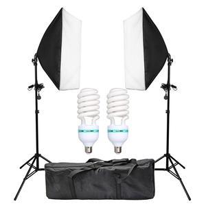 Image 1 - 2pcs 50x70CM 사진 Softbox 스튜디오 연속 조명 키트 135W 전구 사진 스튜디오 초상화 사진 촬영 비디오 촬영