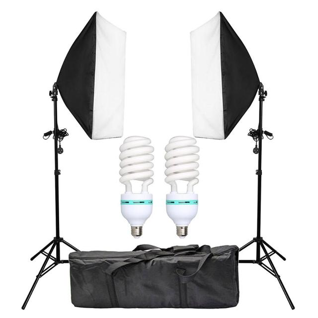 2pcs 50x70CM 사진 Softbox 스튜디오 연속 조명 키트 135W 전구 사진 스튜디오 초상화 사진 촬영 비디오 촬영