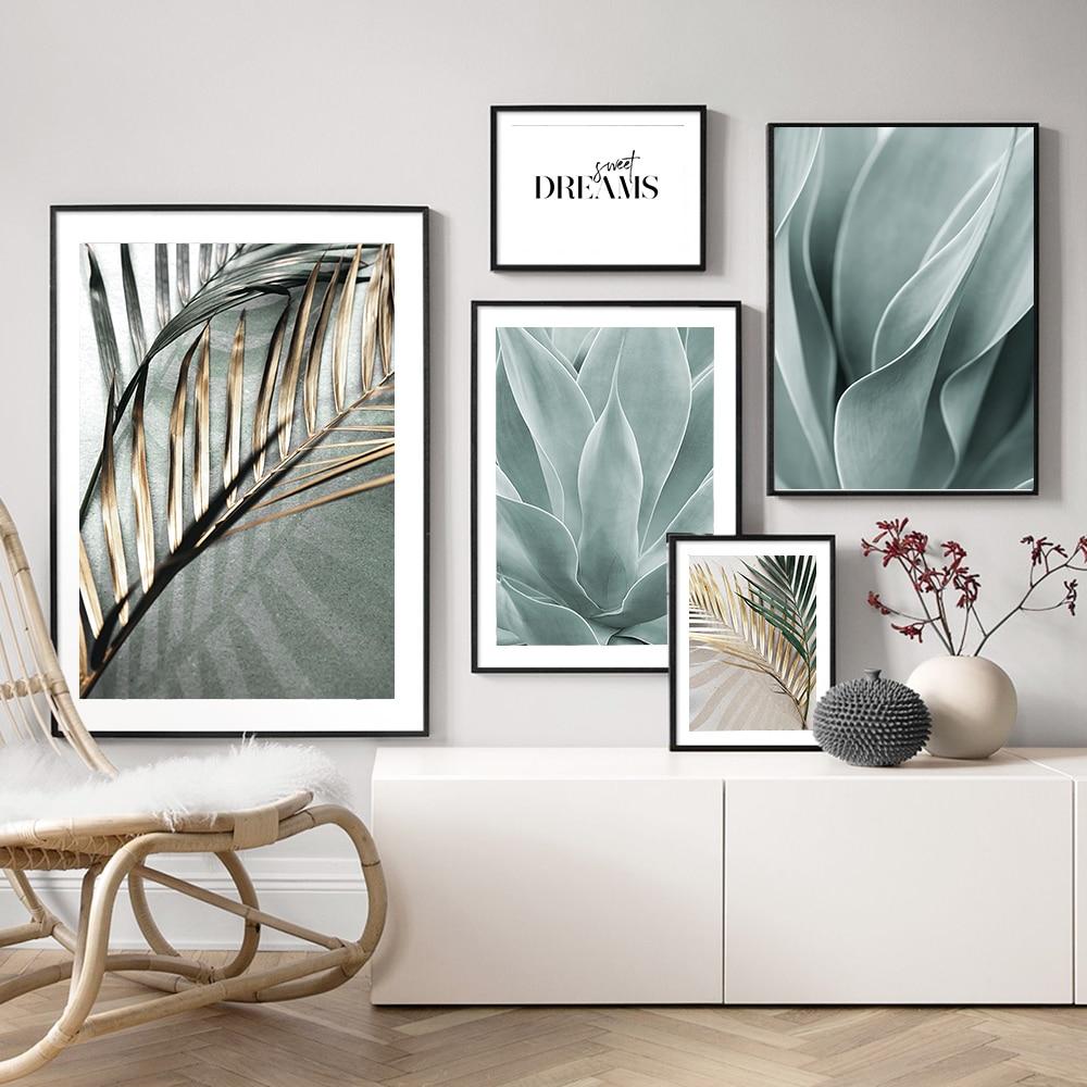 Decoração para sala de estar, palmeiras, arte na parede, pintura em tela, posteres boânicos e impressões, imagens de parede para sala, decoração de casa