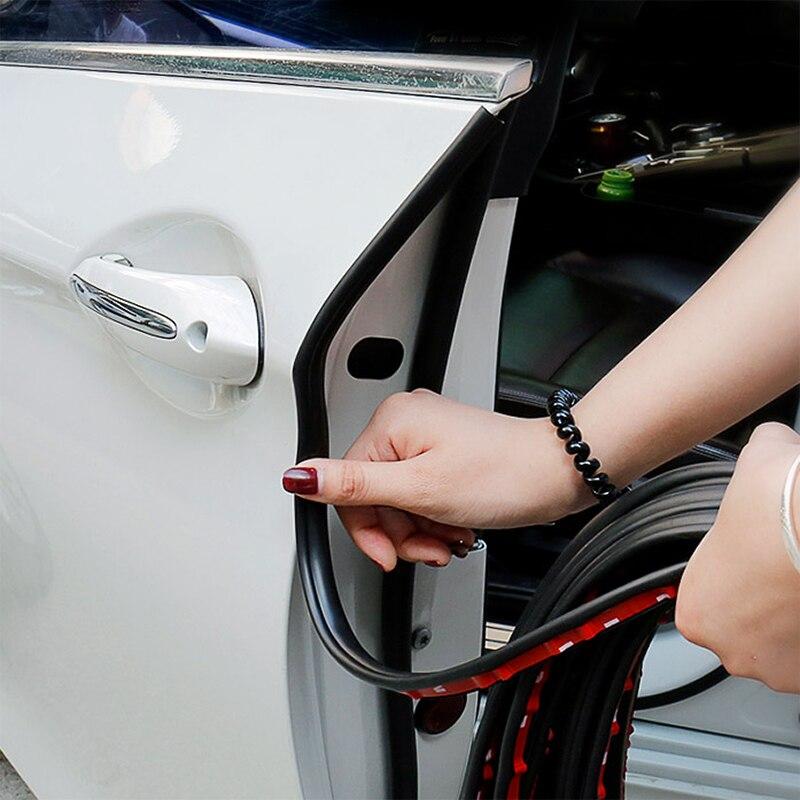 Универсальные резиновые дверные уплотнительные полосы для автомобиля, звукоизоляция багажника, водостойкие уплотнительные наклейки, авто... title=
