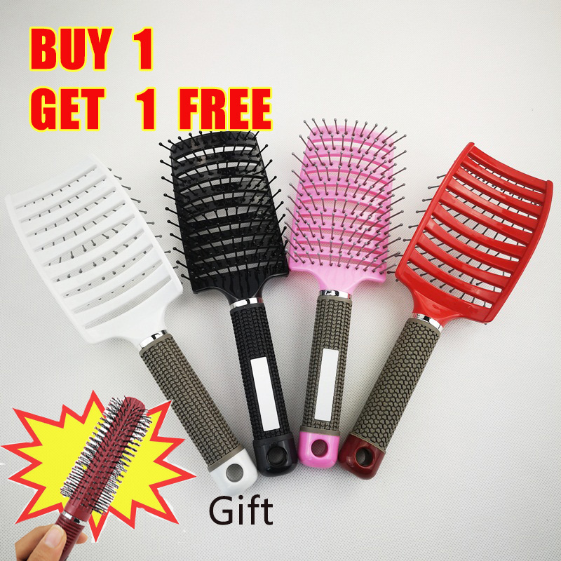 4color Hair Brush For Salon Hairdressing Styling Tools Massage Comb Curly Detangle Hair Brush Head Massage Brush Styling  TipTap