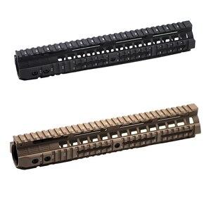 "Image 1 - CNC Aluminum Rail System 4""7""10""12"" Keymod M LOK Handguard For Tactical AEG Airsoft Air Guns Gel Blaster Paintball Accessories"