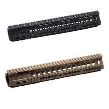 """Sistema de riel de aluminio CNC, 4 """"7"""" 10 """"12"""" Keymod M LOK, guardamanos para pistolas de aire tácticas AEG Airsoft, accesorios de pistola de Gel para Paintball"""