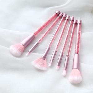 Image 3 - 7 Pcs Makeup Brushes Set Glitter Diamond Crystal Handle Makeup Brushes Powder Foundation Eyebrow Face Make Up Brush CosmeticTool
