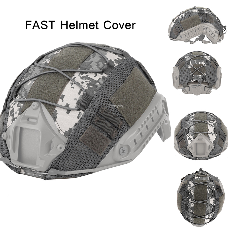 Tactical Helmet Cover Airsoft Paintball Wargame Gear CS Shooting Helmets Cover For PJ/BJ/MH Type Fast Helmet Hunting Accessories