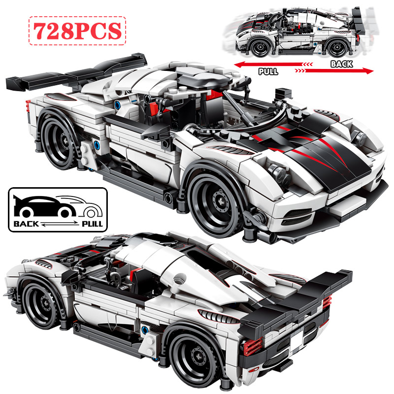 City Pull Back Mechanical F1 Racing Car Building Blocks For Legoingly Technic Diy Sport Car Bricks Educational Toys For Boys