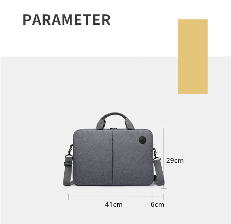 New Popular Laptop Bag Leisure Business Work Bag Briefcase Solid Color Computer Laptop High Capacity Scratch Resistant Bags BA08 (10)