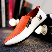 цена на Fashion Splice Leather Business Shoes Men Lightweight Comfortable Flats Driving Shoe Male Slip on Loafers Man Spring Moccasins