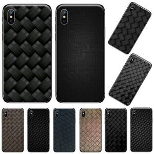 Leather pattern Bottega Painted Bling Phone Case For iphone 5 5s 5c se 6 6s 7 8 plus x xs xr 11 pro max(China)