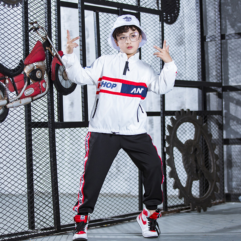 Girls Boys Hip Hop Ballroom Dancing Costumes For Kids Child Jazz Dance Clothes Party Stage Wear Sport Hoodies Pants Outfits Suit