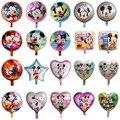50 шт в наборе, 18 дюймов для детей с Микки Маусом и Минни Маус фольги воздушные шары с гелием детских празднований дня рождения вечерние сваде...