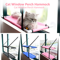 Cat Window Perch Hammock Mesh Cat Bed Double Deck Window Suction Cups Seat Summer Cooling Hammock Bed Cat Accessories 44lbs