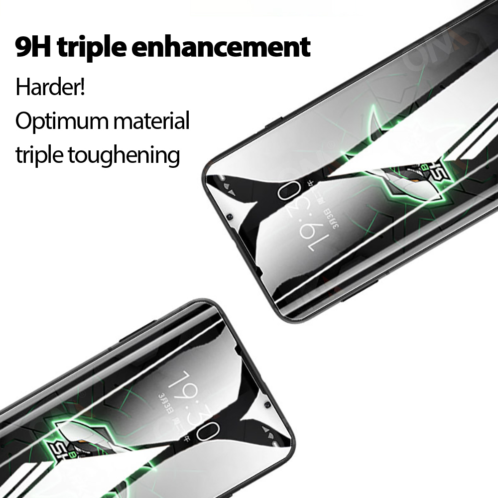 2Pcs 9D Curved Tempered Glass For Xiaomi Black Shark 3 Pro Screen Protector Black Shark 3 Pro Protection Glass Film