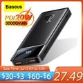 Baseus Power Bank 30000mAh Quick Charge QC 3,0 Power Tragbare Exterbal Batterie Ladegerät PD 20W Schnelle Lade Für iPhone Xiaomi