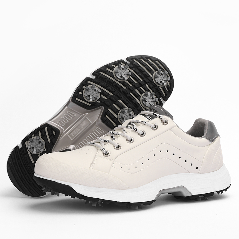 Men Professional Golf Shoes Waterproof Spikes Golf Sneakers Black White Mens Golf Trainers Big Size Golf Shoes for Men 17