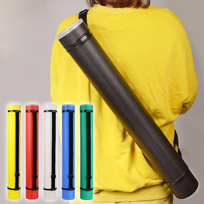 6 Colors Square Drawing Tube Adjustable Portable Drawing Strong Poster Scroll Holder Bow Arrow Quiver Tube For Artist Supplies