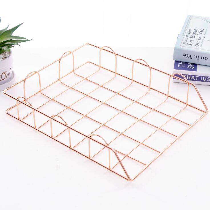 Iron Document Paper Trays  Desktop Book Shelf  3