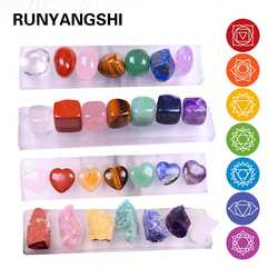 Natural Crystal Quartz Mineral Specimen Healing Stones Rough Ore 7 chakras therapy Gemstone + gypsum base