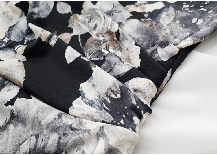 Floral Print Half Sleeve Sheath Knee-length Dress 12