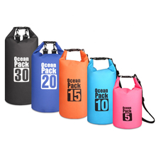 5L/10L/15L/20L/30L PVC Waterproof Dry Bag Outdoor Diving Foldable Storage Man Women Beach Swimming Bag Rafting River backpack цена и фото