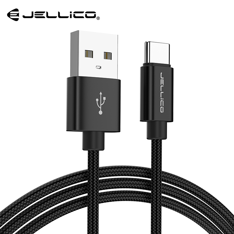 Jellico USB Type C Cable Fast Charging USB C Cable for Samsung Galaxy S9 S8 Oneplus 6 Nylon Braided Data Sync Type C Phone Cable|Mobile Phone Cables| |  - AliExpress