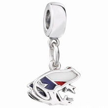 JrSr New 100% 925 Sterling Silver Beads Mix Enamel Flag Frog Pendant Charms Fit Pandora Bracelet Woman DIY jewelry free shipping 100% 925 silver sterling bracelet for woman with heart chain ice charms fashion bills free shipping