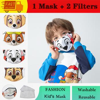 Chłopcy dziewczęta dziecięca maska śliczne 3D Print Cartoon dzieci bawełna oddychająca zmywalna maska wielokrotnego użytku PM2 5 filtr usta maska tanie i dobre opinie COTTON NONE Z Chin Kontynentalnych Dziewczyny W stylu rysunkowym