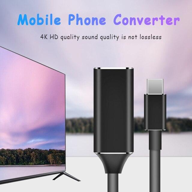 USB 3,1 tipo C a HDMI Cable Ultra HD 4k Video cargo HDTV adaptador de Cable Convertidor para Samsung Galaxy S9/S8/nota 9