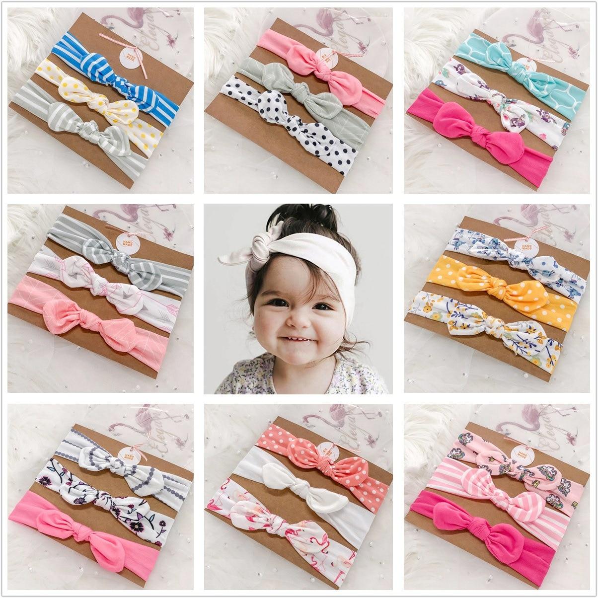 3Pcs/lot Baby Girl Headband For Newborn Babies Hair Band Elastic Accessories Cotton Headwear  Baby Nylon Headband