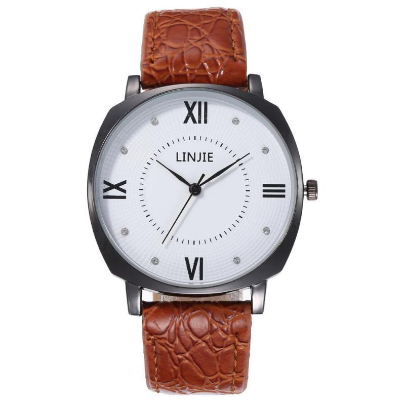 2020 Women Watches Business Style Roman Numerals Dial Ladies Quartz Wristwatch Movement Casual Leather Strap Clock Montre Femme
