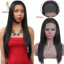 4x4 закрытие парик бразильский прямые парики из человеческих волос парики для волос с детскими волосами 8-26 дюймов бразильский парик шнурка