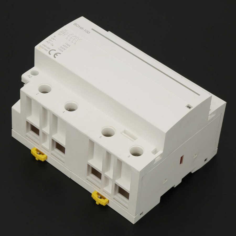 4P 4NC 50/60 Гц бытовой DIN Rail контактор переменного тока низкого Мощность потребление 500VAC MS