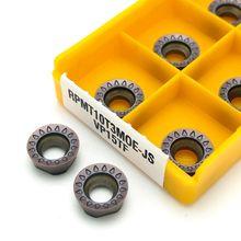 Outils de tour de tournage interne, 10 pièces en carbure RPMT10T3MO E JS VP15TF, outil de tour de tournage CNC outils, RPMT 10T3