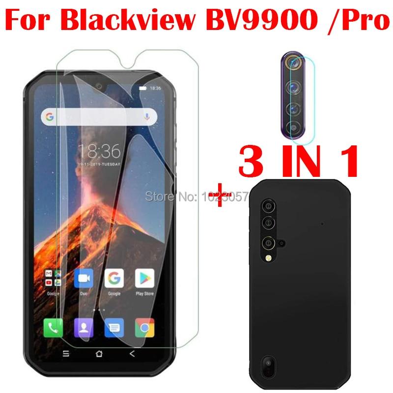 3-в-1 чехол + Камера закаленное Стекло на Blackview BV9900 Pro Экран протектор Стекло для Blackview BV9900 BV9900E 2.5D Стекло