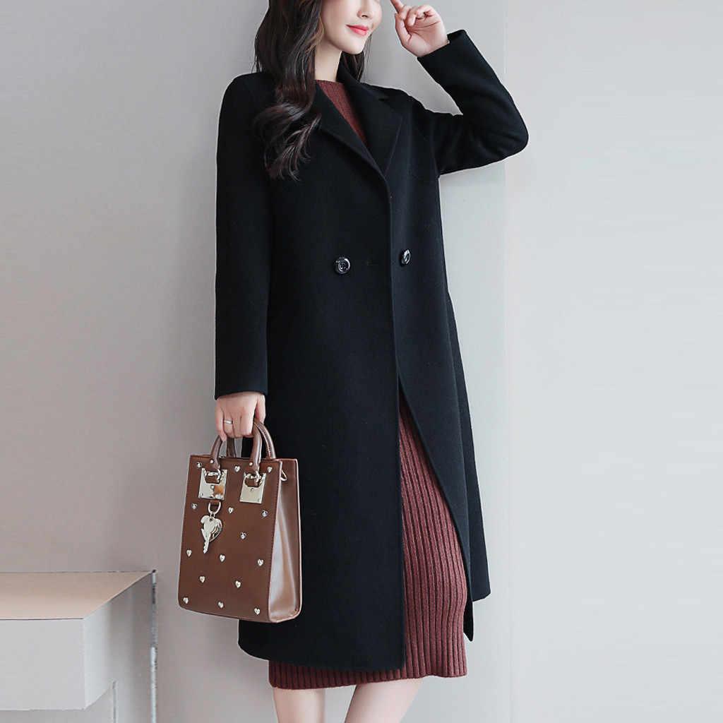 Outono Inverno Mulheres Casacos Mulheres Casual Brasão Botão Manga Longa Elegante Escritório Trabalho Moda Mulheres Jaqueta Casaco de Suor