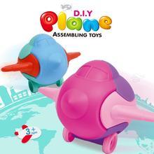 Детский 3D Деревянный аэроплан головоломка игрушка DIY самолет Сборка игрушки развивающие игрушки для детей