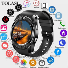 Smartwatch Touch Screen Wrist Watch with Camera/SIM Card Slot Waterproof Smart Bluetooth movement SmartWatch Men